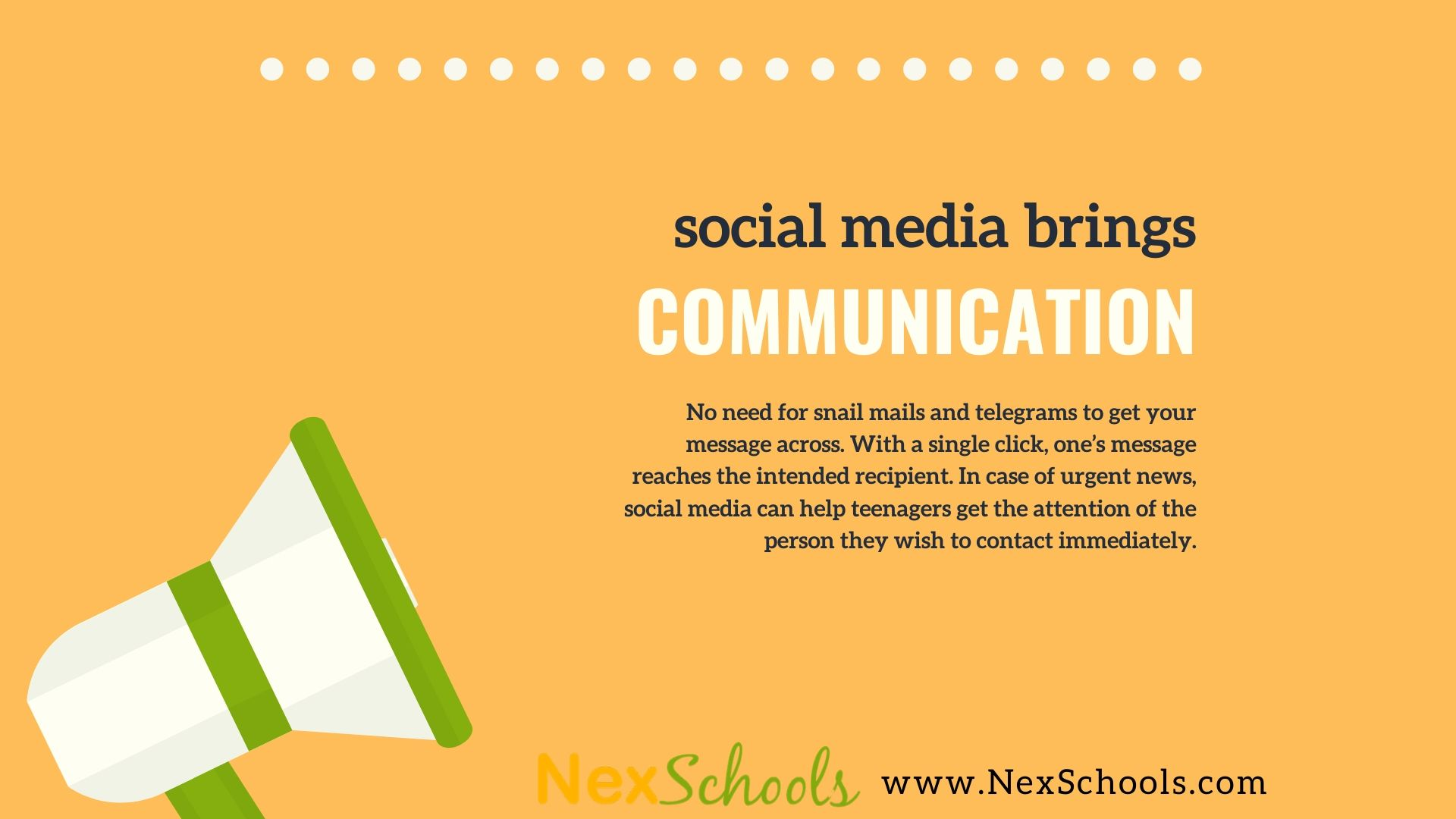 Positive Effects of Social Media on Teens, How To Use Social Media Meaningfully, A Guide by NexSchools.com for  Social Media Awareness for teens Schools, Download the guide, Social Media for Positive Communication