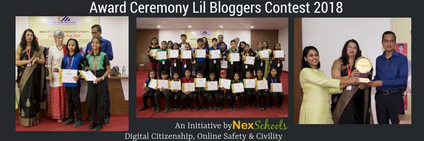 Blog Contest Award ceremony School bloggers contest