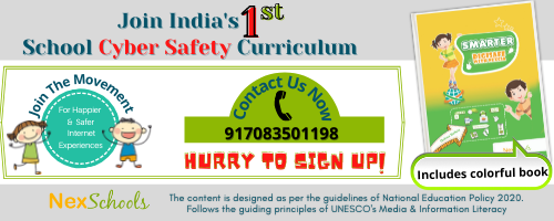 Cyber Safety Curriculum for schools - Primary and middle to high school students, First School Curriculum Designed for Cyber Safety, SChools Membership to support #HappierSaferInternet, #HSIWEEK