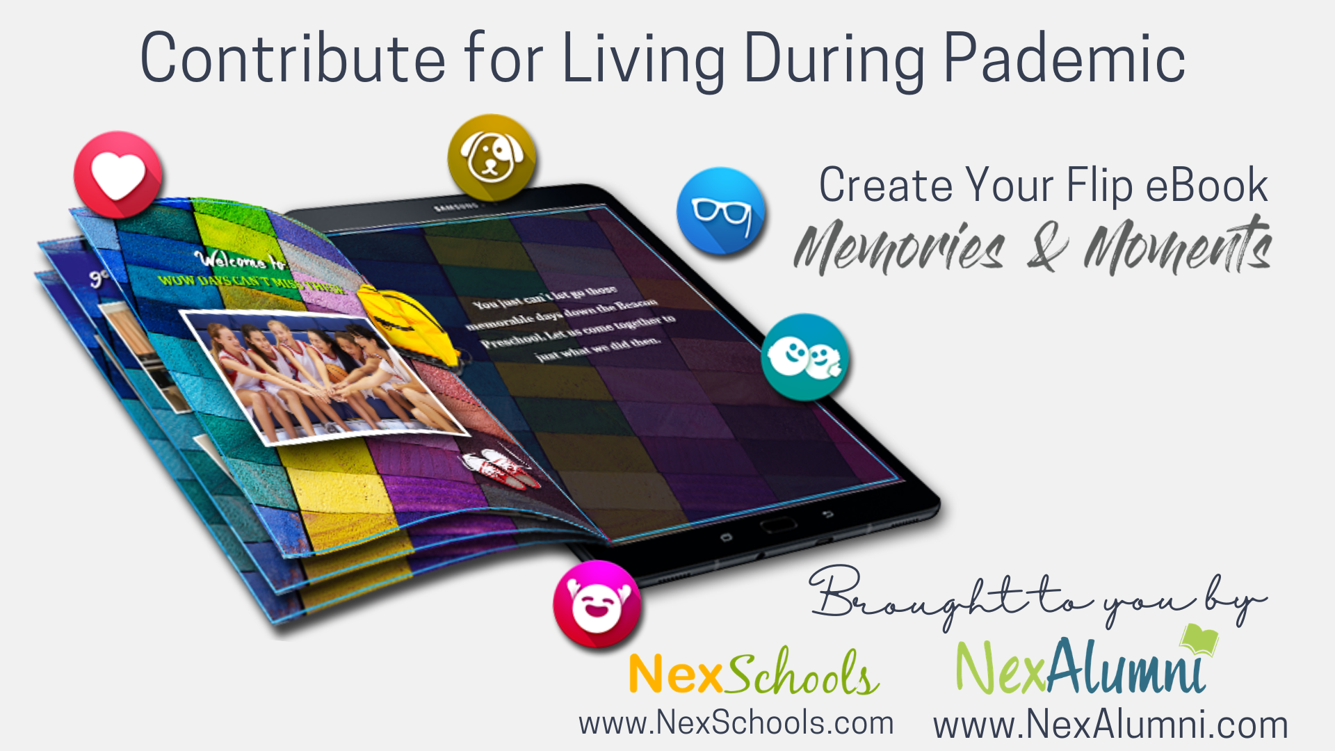 Create flip eBook to preserve your memories during pandemic, Your online classes ebook, your personal home eBook, Family ebook Quarentine memories in an ebook, fully automated eBook