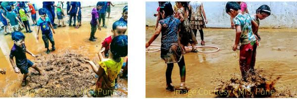 Mud Day Celebration at School Pune India