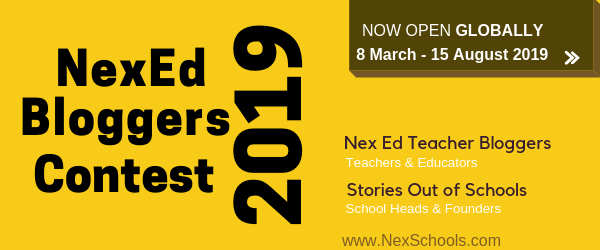 NexEd Bloggers Contest 2019 for teacher Schools in K12