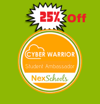 Cyber Warrior Student Ambassado Course for students, middle schools, high school,