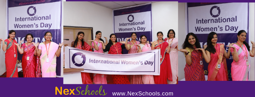 Balance For Better Pose IWD 2019 NexSchools.com