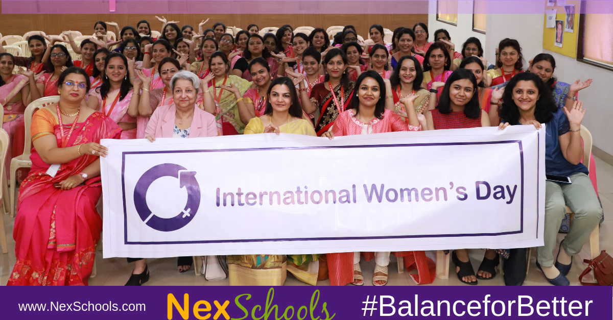 IWD2019 Balance for better NexSchool International Women Day