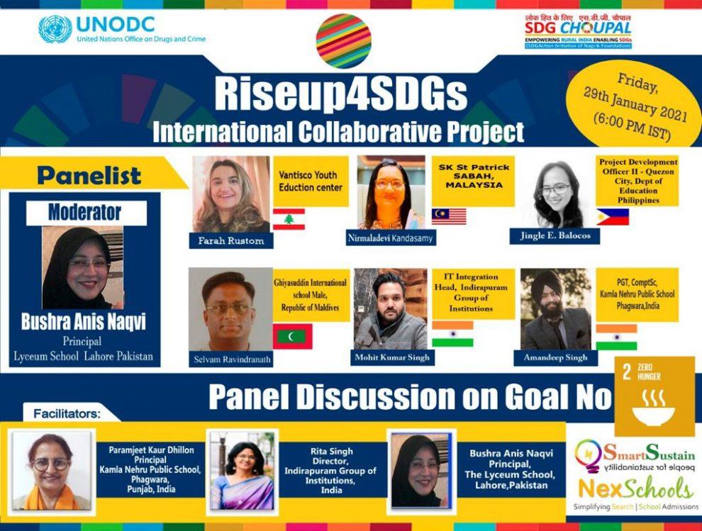 Rise4SDGs Collaborative Effort For SDG 2 - Zero Hunger, Moderator, Keynote speaker and Panelists
