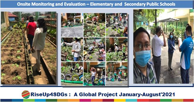 The United Nations Division for Sustainable Development Goals No 2 , Department of Education Philipines, Backyard gardening in Public School, NexSchools.com Partner