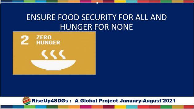 ZEor Hunger  SDG Gola No2, NexSchools RiseUp4SDGs