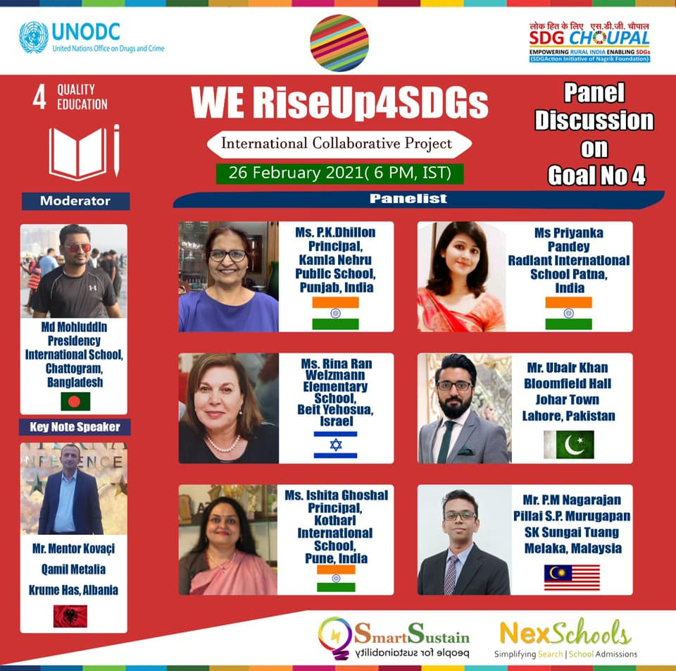 RiseUp4 SDGs Quality Education Panel Discussion Round up by NexSchools, Media Partner for school project NexSchools, Contact NexSchools for edtech advertisements and promotions