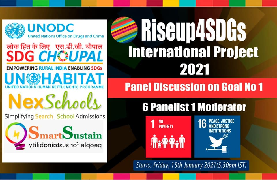 RiseUp4SDGs International Project on Sustainable Development Goal Number 1 NO POVERTY, UNODC UNOHABITAT NexSchools.com