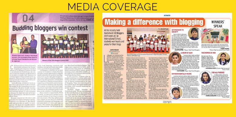 NexSchools Lil Bloggers Contest Media Coverage, Student Blog, Free Blog for Children, Middle School Students Blogging Contest