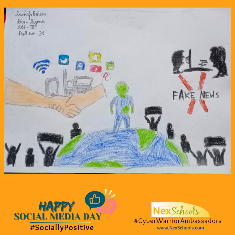 #SociallyPositive, Social Media Awareness Week for Schools, Childre Students Teachers , Tiips for cyber Safety awareness