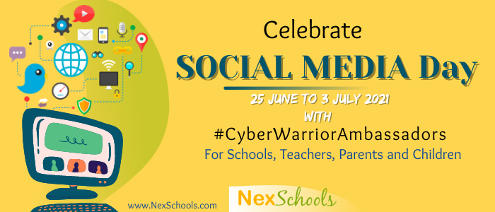 Social Media Day Ideas and Activities for Schools, Teachers, Parents, Children Kids Students, #SociallyPositive #NexSchools #HappierSaferInternet, Survey for Teens - How Internet Smart Are You? Survey for tween ages 8 to 12 years -Digital Habits, COVID-19 Online Classes and impact on children of Internet, School Membership for Cyber Safety, Cyber Safe, Cyber Aware,